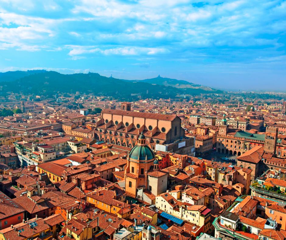 Bird's eye view of Bologna