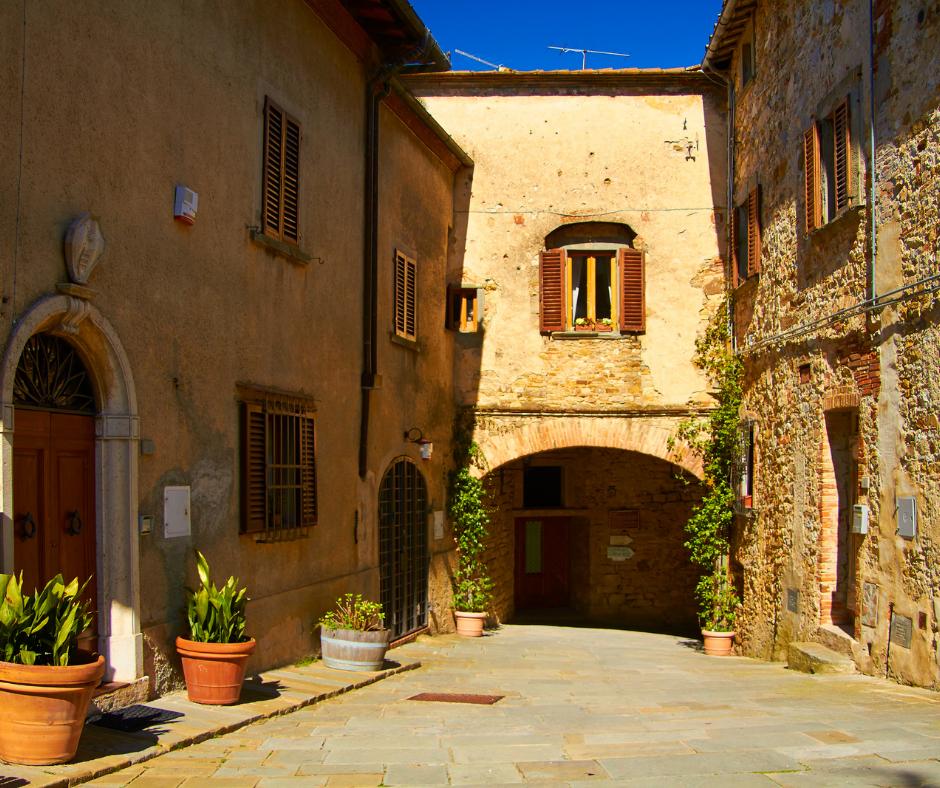 Stone houses in Castellina in Chianti