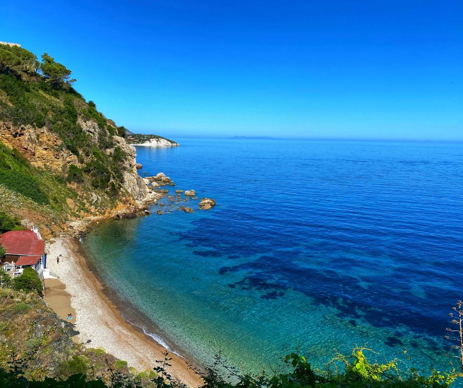 Beautiful coast of Isola D' Elba