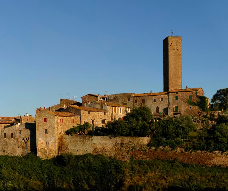 Building facades in Maremma, Tuscany