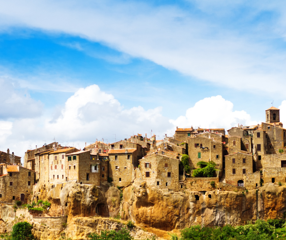 Houses Carved from Stone in Pitigliano, Tuscany