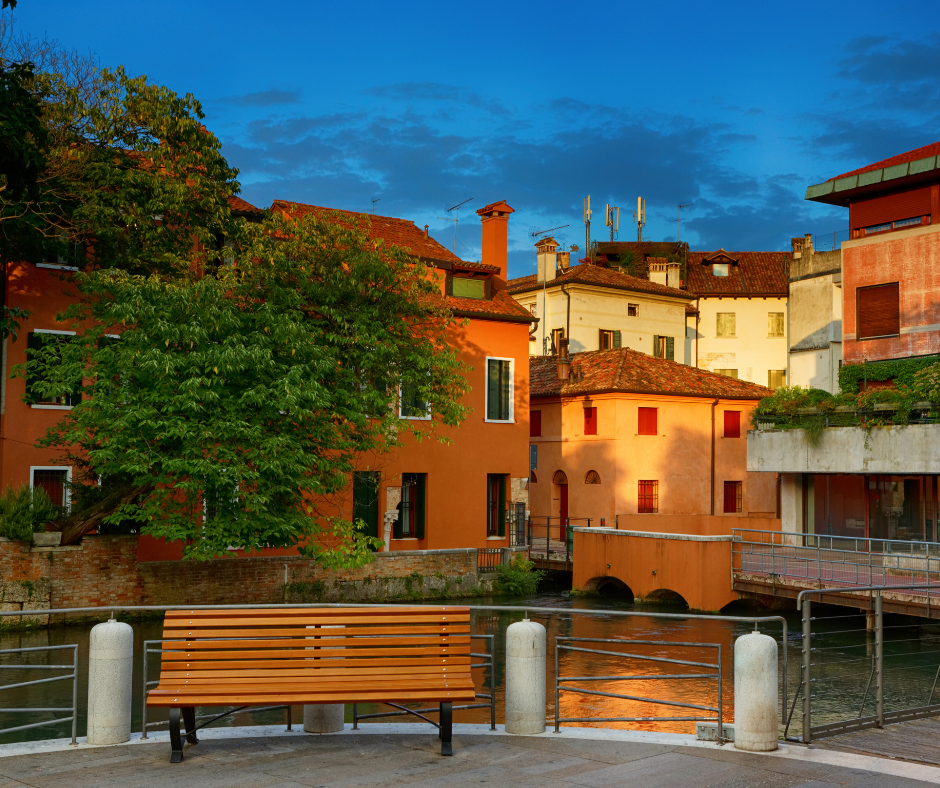 Beautiful houses in Treviso, Veneto