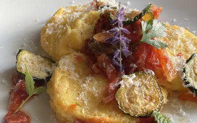 Gnocchi alla Romana with Zucchini, Pomodorini & Pecorino